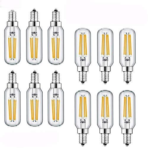 WV LeisureMaster 4W LED Bulbs Dimmable 2700K Warm White 420 Lumen, E12 LED Bulb Candelabra Base 60 Watt Equivalent T25 Tubular Bulbs Shape 360