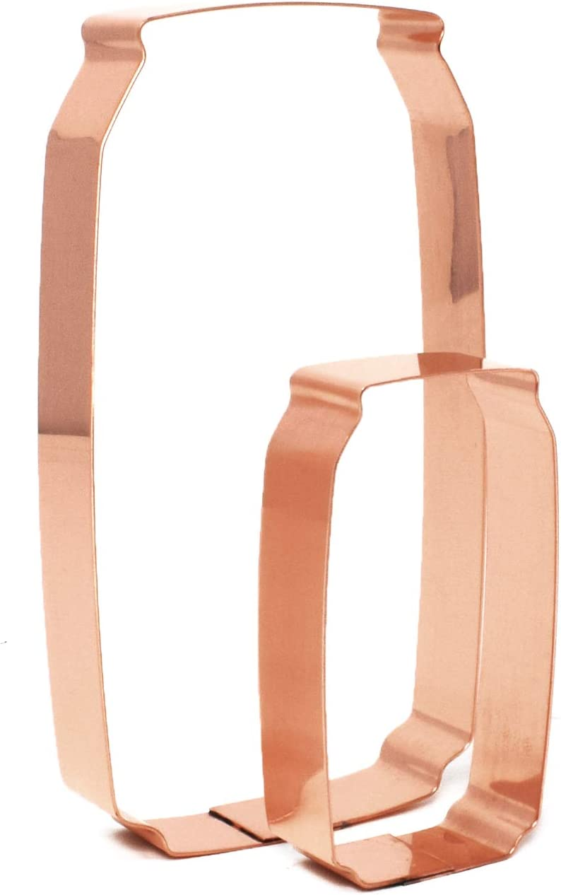 Pair of Soda latest Pop Max 84% OFF Copper Cookie Can Cutters
