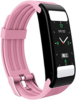 1 Inch Smart Watch Fitness Tracker Waterproof Heart Rate Sleep Monitoring Bluetooth Caller Information Reminder Exercise Compatible Android iOS Phones for Men Women Kids Black Pink