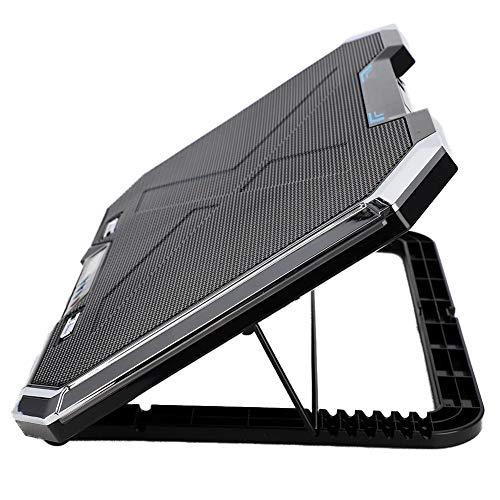 Diyeeni Ventilador de enfriamiento para Laptop, Enfriador de Notebook, Elevador de PC de Ajuste de ángulo múltiple, Ventiladores de enfriamiento externos con Luces RBG controlables