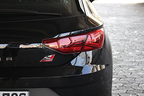 Finest Folia Rückleuchten Folie Aufkleber Set Links & rechts Heckleuchten Scheinwerfer CO27/28 (C028 5F Facelift Limousine, Red)