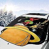 Not Applicable Couverture Pare-Brise Voiture,Mar_Vin The Mar_Tian Planet Stores De Fenêtre De Véhicule Pratiques pour Véhicule Automobile Minivan,147x118cm
