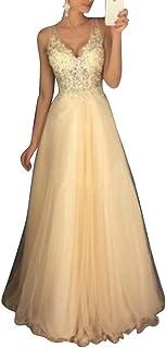 8ea617cfe91b Amazon.es: vestidos largos de fiesta para bodas - Amarillo