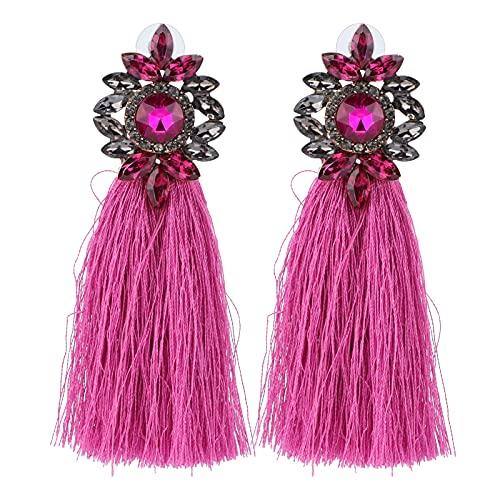 YIFengFurun Orecchini da donna, con nappa, pendenti, idea regalo per donna/lei/ragazze/moglie/mamma/fidanzata (rosso)