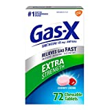 Gas-X Extra Strength Chewable Tablet for Fast Relief from Gas, Bloating and Discomfort, Cherry 72 Count (Pack of 1)