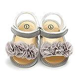 1 par de zapatos de bebé fresco zapatos de encaje suela suave bebé ligero suela delgada sandalias para uso diario gris 11 cm