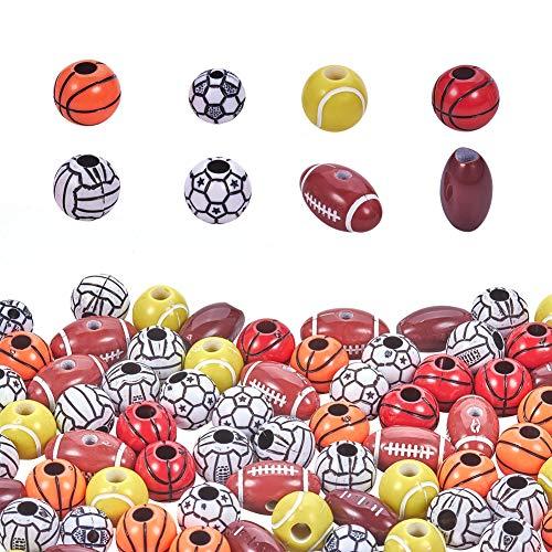 PandaHall - Juego de bolas de plástico para manualidades y actividades en el hogar