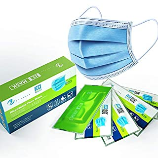 Zen Mask 50pcs Disposable Mask 3 Layers Daily Use Anti Dust Face Masks with Elastic Ear Loop - Vacuumed Bag and Packed in Color Box, Shipped from Australia (B08F757V8Y)   Amazon price tracker / tracking, Amazon price history charts, Amazon price watches, Amazon price drop alerts