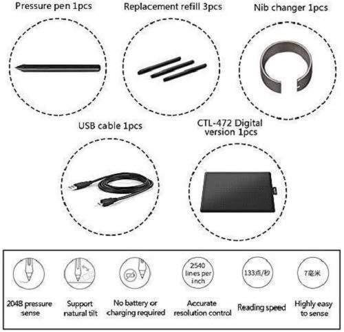 One by Wacom – CTL-472 | Universelle Stiftlösung | Funktioniert mit jedem Chromebook | Größe S - 7