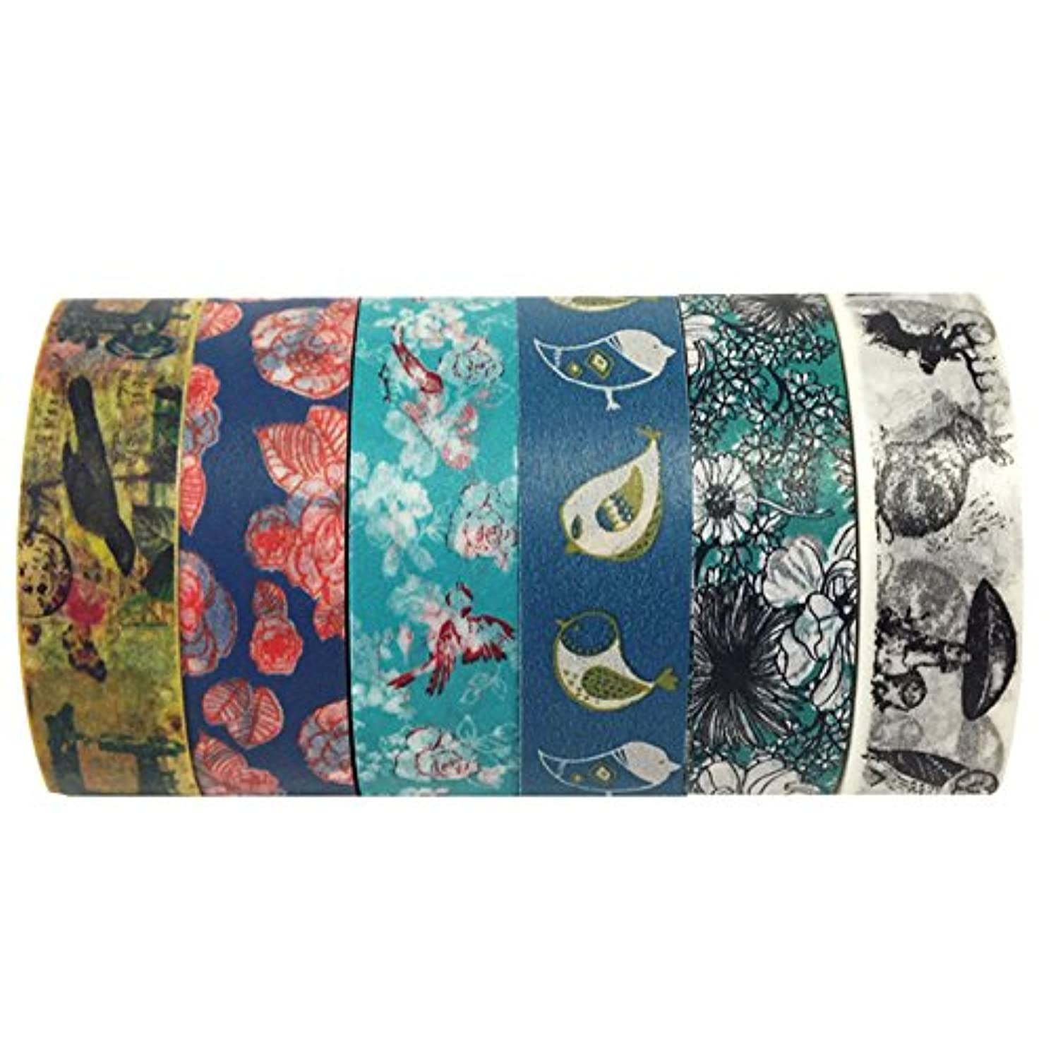Wrapables VPK23 Premium Value Pack Washi Masking Tape Collection, Set of 6