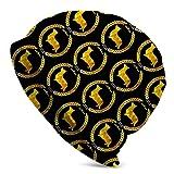 Jimbseo Gold Corgi Invierno Beanie Hat Bufanda Conjunto Forro Polar Warm Knit Grueso Cráneo Cap para