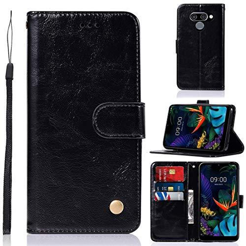 J&H Capa para LG K12 Prime, capa carteira para LG K12 Prime, capa de couro sintético vintage com fecho magnético para LG K12 Prime de 16,26 cm