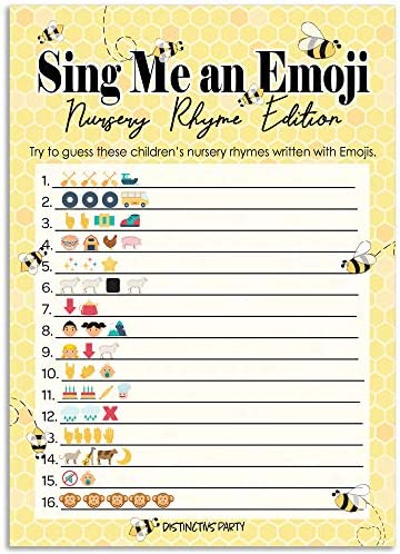Bumble Bee Baby Shower Emoji Game Cards 20 Count product image