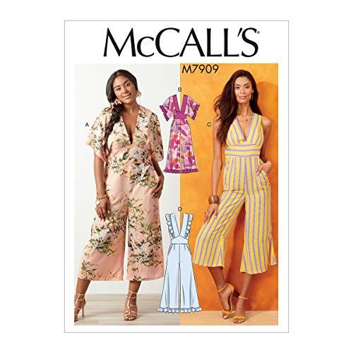 McCall's M7909 Damen Jumpsuits Gr. S 18 W - 24 W Schnittmuster