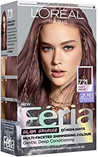 L'OrÃal Paris Feria Multi-Faceted Shimmering Permanent Hair Color, 721 Dark Mauve Blonde, 1 Count kit Hair Dye