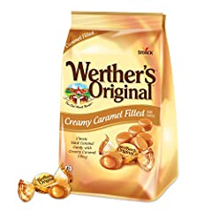 HARD CANDY: Sweet and creamy hard caramels filled with a deliciously smooth caramel cream! WERTHER'S ORIGINAL filled caramel candies are gluten free and melt in your mouth in a delightfully creamy way CANDY: Enjoy this pack of 12, 1.8-ounce rolls of ...