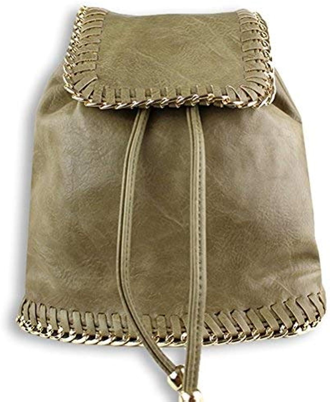 Tuya Women's Trendy Fashion Backpack Vegan Leather Bag
