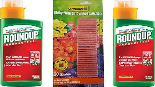 Roundup AC Konzentrat - 2x 400 ml - Unkrautvernichter zur Bekämpfung von Moos und Unkräutern