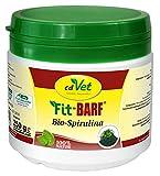 cdVet Naturprodukte Fit-BARF Bio-Spirulina 250 g - Hund & Katze - Nährstoffe - Darm - Basenbildung - Säurehaushalt des Magens - Vitamine - Spurenelemente - Mineralstoffe - Rohfütterung - BARFEN -