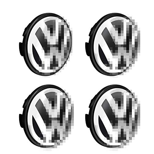 TiToeKi Wheel Center Hub Caps, 65mm Center Hub Cover Replacements Logo Badge Emblem Compatible with vw Wheel Hub Cover(4 Pack)