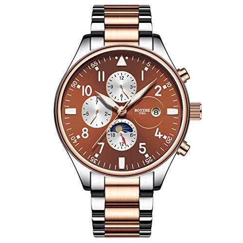 luckyco Herrenuhr Herren Uhr MäNner Uhren Herrenarmbanduhr Uhrenmarke Luminous Waterproof Business Vollautomatische Mechanische Herren-Edelstahl-Armbanduhr Mit Geschenkbox