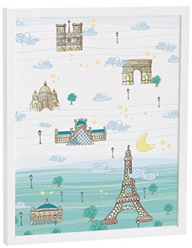 Baby Eiffel France – Tableau, 40 x 50 cm, bleu/vert