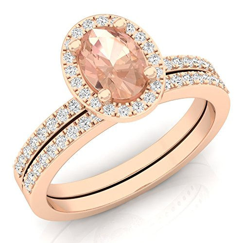 Best oval morganite ring with diamonds for 2020