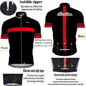 Hengxin Maillot Ciclismo Corto De Verano para Hombre, Ropa Culote Conjunto Traje Culotte Deportivo con 9D Almohadilla De Gel para Bicicleta MTB Ciclista Bici (Rojo, XXXXL)