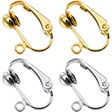 Bememo 36 Pack Clip-on Earring Converter with Easy Open Loop for DIY Earring and Turn Any Studs or Pierced into Clip on (Gold and Silver)