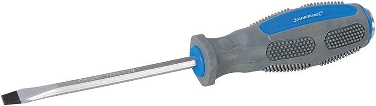 5 x 75 mm Silverline SD71 Destornillador de punta plana engomado
