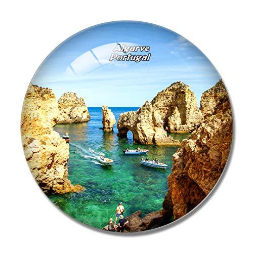 Imán para nevera 3D de Portugal, Lagos Coast Algarve, para pizarra blanca