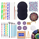 31 piezas Mandala Dotting Tools para rocas diferentes tamaños herramientas de pintura, rocas Mandala Kit de plantillas de pintura Pinceles para pintar colorear Dibujo y Dibujo de Arte Suministros