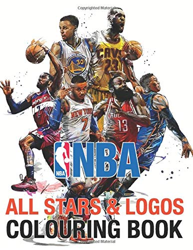 NBA All Stars and Logos Colouring Book: Ultimate Basketball Colouring Book | Michael Jordan, Stephen Curry, Lebron James, Kawhi Leonard | All 30 team logo