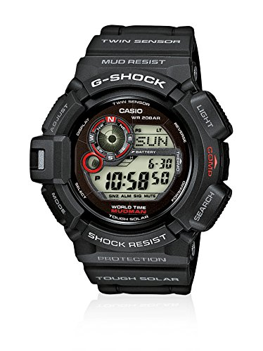 Casio Herren Digital Quarz Uhr mit Resin Armband G-9300-1ER