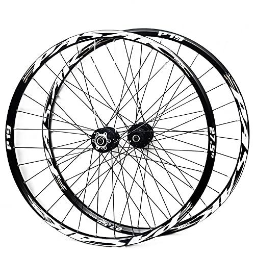 CAREXY Juego de Ruedas de Bicicleta, Bicicleta de Montaña de 26/27.5/29 Pulgadas, Llanta de Doble Pared, 32H, Juego de Ruedas para Ciclismo, Freno de Disco, Liberación Rápida,A,27.5''