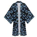 Demon Slayer Cosplay Costume Ubuyashiki Amane Cosplay Kimono Outfit Cape Cloak Robe (S, black)