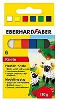 Eberhard Faber 572006 - プラスチック粘土 段ボール箱入り 6個セット マルチカラー