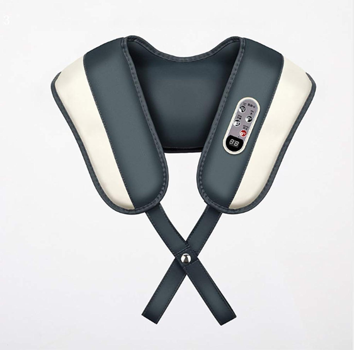 そんなに派生するの間に肩のマッサージャー、指圧の首および熱の肩のマッサージャー、ホームオフィスのための3d深い混練筋肉苦痛救助の緩和の処置の調節可能な強度