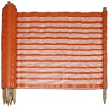 Mutual 14989-1-4800 Woven Polypropylene Fabric Preposted Barricade Safety Fence, 100' Length x 48' Width, Orange