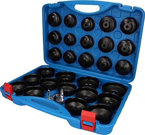 Brilliant Tools BT711050 Jeu de Cloches pour Filtre à Huile   30 pcs, Bleu/Noir, TLG