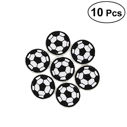 SUPVOX Bordado apliques parches patrón de fútbol parches de costura para la reparación de pantalones vaqueros chaquetas ropa bolso arte artesanal decoración 10 piezas