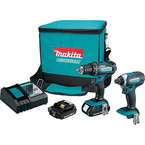 18V Compact Lithium-Ion Cordless 2-Piece Combo Kit (2.0Ah) (Renewed)