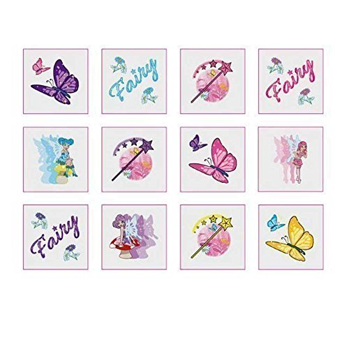 36 - Fairy Temporaty Tattoos -Party Bags Fillers for Girls Party, Removable by Shatchi
