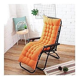 Coussin de chaise de décoration de bureau à domici Coussin longue orange Recliner Rocking Chair Coussin épais coussin d…