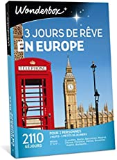 Wonderbox - Coffret cadeau - 3 JOURS DE REVE EN EUROPE - 2110 séjours en hôtels en Europe