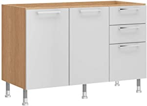 Ditalia Moveis counter with 2 door cabinet and 3 pullout drawers, CD-155