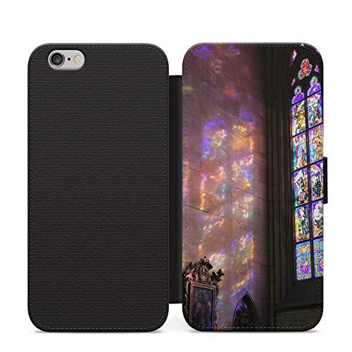 Iglesia Vidrios Vidrios Púrpura Maravillas del Mundo Unreal Funda de Cuero de la PU del Teléfono Funda para Samsung Galaxy A20e