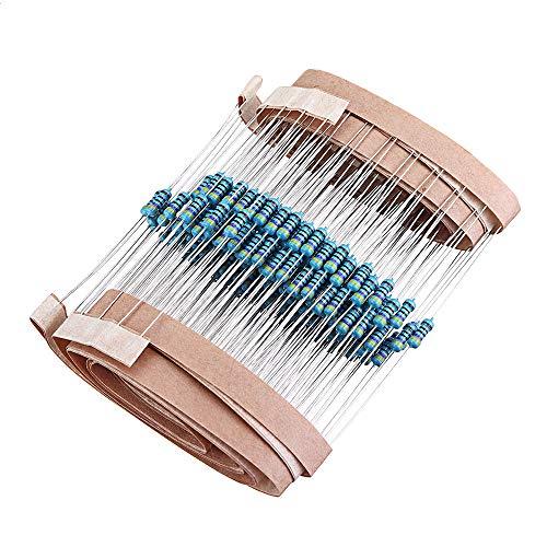 JJBHD Electronic Accessoires & Supplies 2000 stücke 1/4W 470 Ohm Widerstand +/- 1{63882acd457c6a8786de6e0e40ed2a3f6dadb438a1167381ee84c6a84f7cafbc} ROHS1 / 4W 470R OHM Metallfilmwiderstände / 0,25W Watt Farbe Ring Widerstand Kohlenstofffilm Um Ihnen die Qualität de