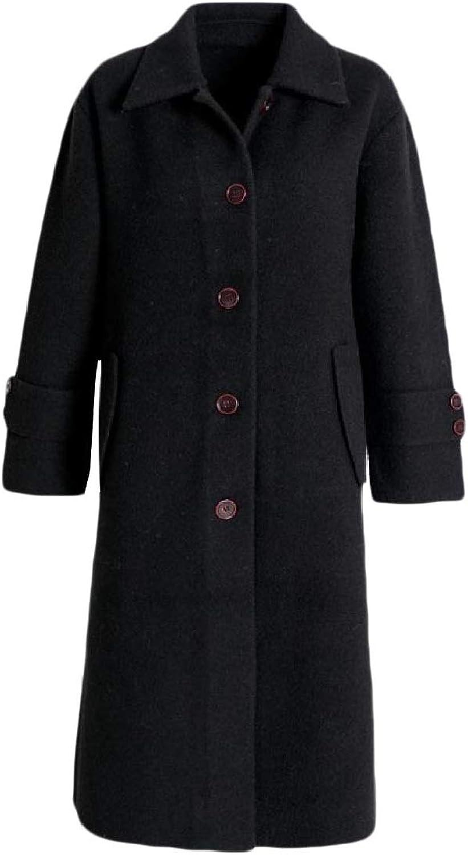 Coolhere Women's Premium TrimFit Ankle Length Classics Fleece Woolen Coat