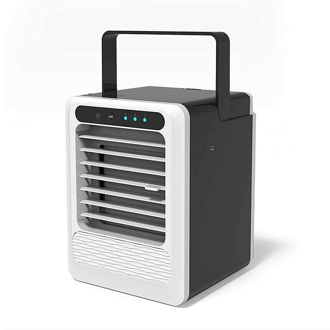 Mini Cooling Fan Quiet, Portable Air Conditioner with Air Purifier Humidifier, USB Personal Air Cooler Small Window Air Conditioner for Indoor and Home
